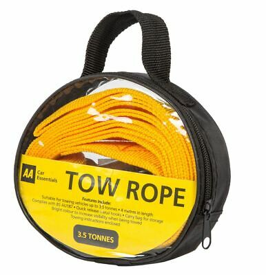 AA Tow Rope 4.0m 3.5 Tonne In Carry Bag Pack • 6.74£
