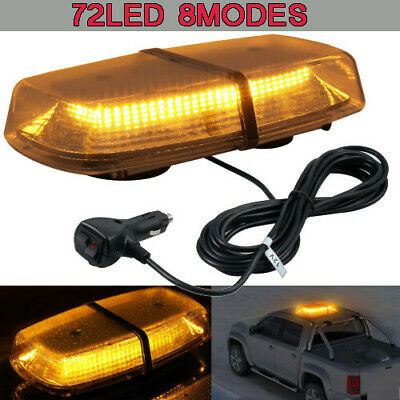 54LED Emergency Warning Strobe Light Car Roof Amber Recovery Bar Flashing Beacon • 28.45£