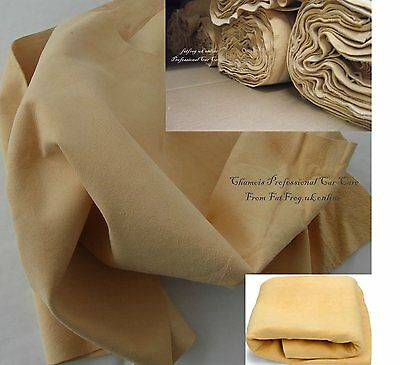 Genuine Chamois Leather Best Quality Car Cloth Tanned Sheepskin 1sq Ft Large • 3.89£