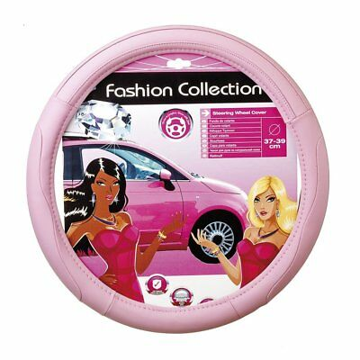 Pink Classy Soft Leather Car Steering Wheel Cover Glove Girls Ladies Lady Grip • 12.95£