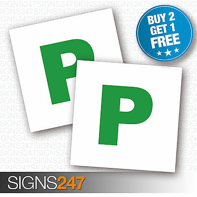 2 X New Driver P Plate Stickers Safety Car Learner Just Passed Vinyl Legal Signs • 1.79£
