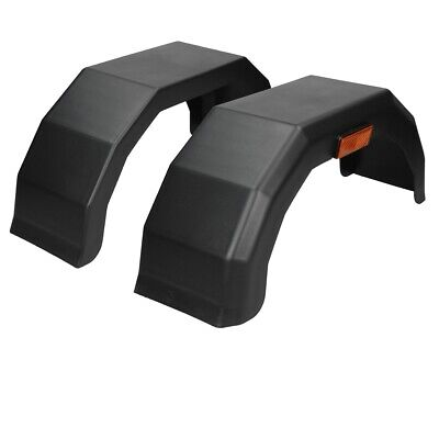 Pair Of 13 Inch Plastic Trailer Mudguards Mud Guards Arch Fenders Wings Black • 29.95£