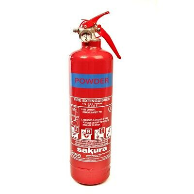 Multi Purpose Fire Extinguisher 1KG Flammable Gas Liquid Electrical Fires Car • 17.95£