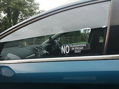 No Passengers In Front Seat Decals • 2.50£