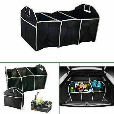 2-in-1 Car Boot Organiser Heavy Duty Collapsible Foldable Shopping Tidy Storage • 5.99£