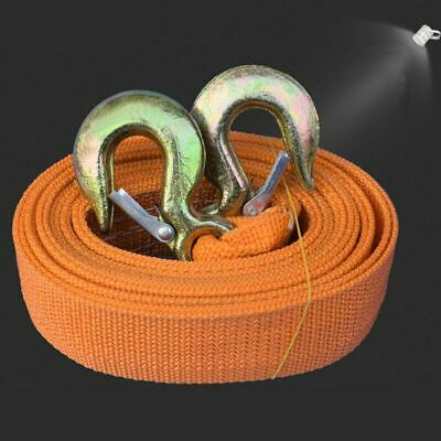 Tow Rope 8T 4x4 6M Thicken Heavy Duty Towing Pull Strap Road Recovery 2 Shackles • 12.09£