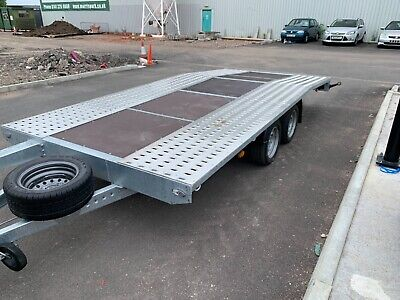 Brand New 2.7T Bed 4.5m Car Trailer, Flat Bed, Recovery Trailer  • 2,950£