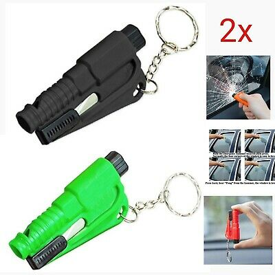 6 PCS Mini 3 In 1 Emergency Safety Hammer Auto Glass Car Window Life Keychain UK • 6.99£