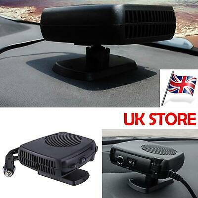 UK Plug-in Ceramic Car Heater 12V DC Heating Fan Defogger Defrost Demister Black • 10.99£