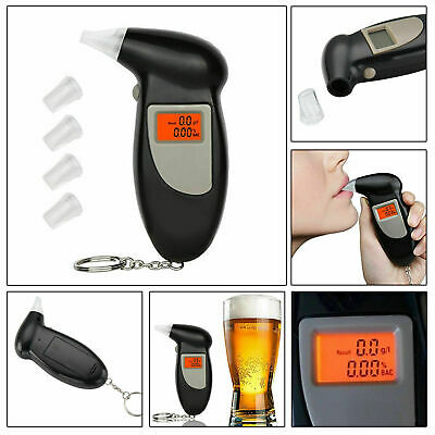 New Professional LCD Digital Breath Tester Breathalyser Police UK Seller • 4.99£
