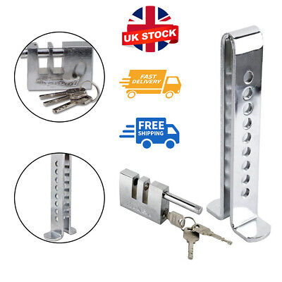 Silver Auto Car Brake Clutch Pedal Lock Stainless Anti-Theft Strong Security • 8.99£