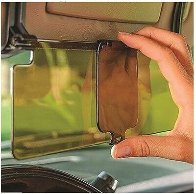 Clip On Car & Van Tinted Anti Dazzle Glare Block Shade Sun Visor Extension Kit • 8.99£