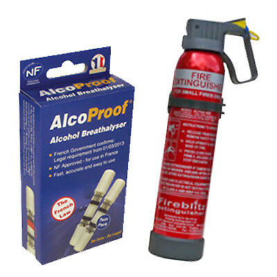 AlcoProof Alcohol Breathalyzer With Fire Extinguisher In-Car Bundle • 16.55£
