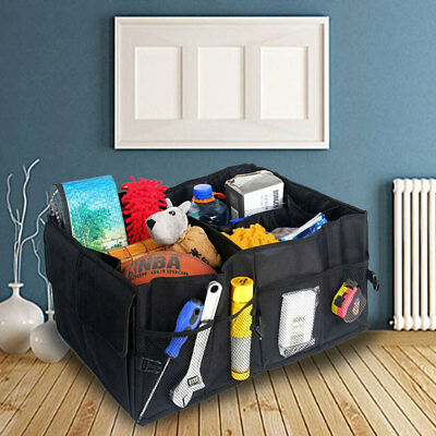 Car Boot Tidy Bag Storage Box Trunk Organiser Travel Holder Foldable Collapsible • 7.89£