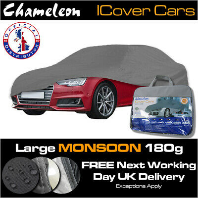 Car Cover 180g (Large) 100% Waterproof, Cotton Anti-scratch Lining, Dual Layer • 33£