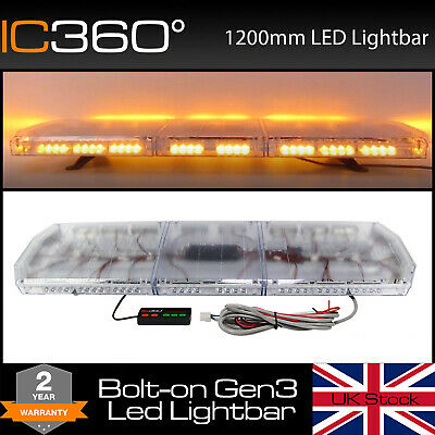 1.2m LED Amber Van Truck Light Bar Recovery Warning - 120cm 1200mm 48  Lightbar • 185.07£