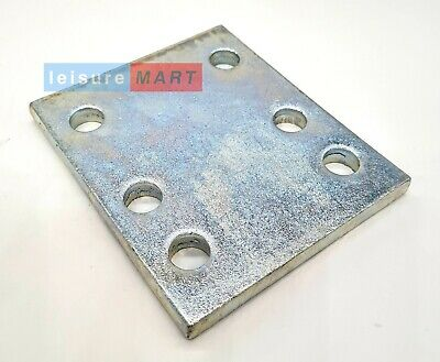 4 Inch Drop Plate Tow Ball With 6 Holes Zinc Plated Towing Towbar  • 10.75£