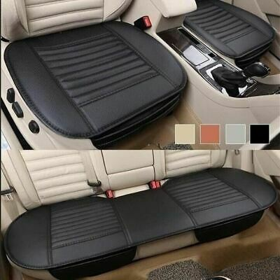 3pc Universal Front & Rear Black Car Seat Cushion Cover Set Car Seat Protector • 19.90£