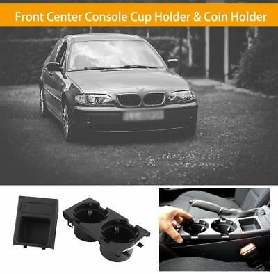 Center Console Drink Cup Holder Coin Storage For BMW E46 325 328 330 1999-06 UK • 17.89£