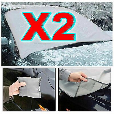 2 X Magnetic Car Windscreen Cover Ice Frost Shield Snow Protector Sun Shade Van • 5.49£