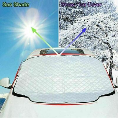 Car Reversible Windscreen Cover Windshield Aluminium Sun Snow Ice Frost UV Dust • 7.85£