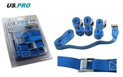 Cam Buckle Tie Down Straps US PRO 4pc Lorry Lashing Roof Rack Trailers 9148 • 8.20£