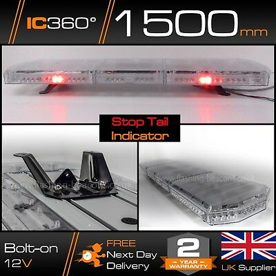 1.5m LED Amber Recovery Hazard Light Bar - 1500mm 59  STOP / TAIL / INDICATORS • 231.57£