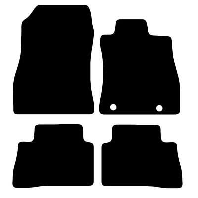Tailored Black Car Floor Mats Carpets 4pc Set With Clips For Nissan Juke • 11.84£