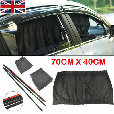 2x 70*47cm Car Side Window Sun Shade Curtains UV Protection Cover Shield NEW • 8.98£