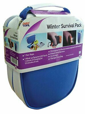 Autocare - Winter Survival Pack -Torch, Tow Rope, Ice Scraper, Emergency Blanket • 8.49£