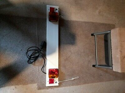 Cycle Carrier Trailer Light Board 3ft Lighting Board Number Plate Towing - Used • 10£