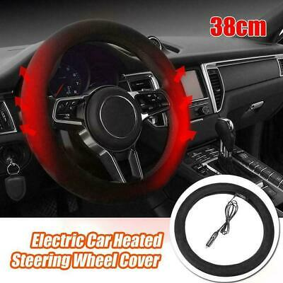 Electric Heated Steering Wheel Cover 12V DC Hand Warmer SHIPPED FROM Hot Sale UK • 9.03£