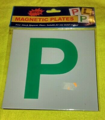 Provisional Licence Magnetic Plates   Condition New & Sealed   • 2£