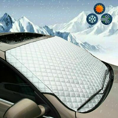 Car Windscreen Cover Snow Frost Ice Winter Sun Shade Dust Protector Shield • 8.50£