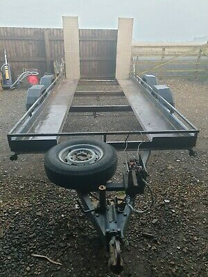 14 Ft ( Loading Bed )Twin Axle Car Trailer  • 800£