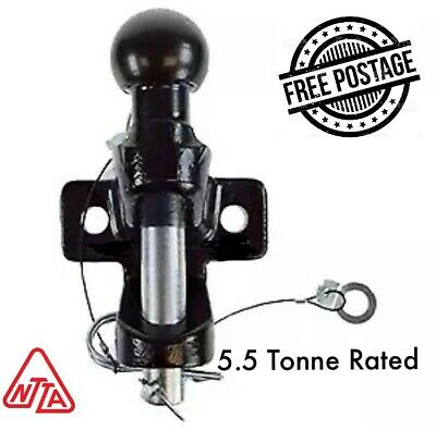 Tow Ball And Pin Towing Universal Coupling 5500kg GVW Hitch EC Approved • 29.50£