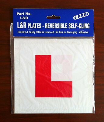 L Plate Learner Plates Self Cling Pair  • 3.49£