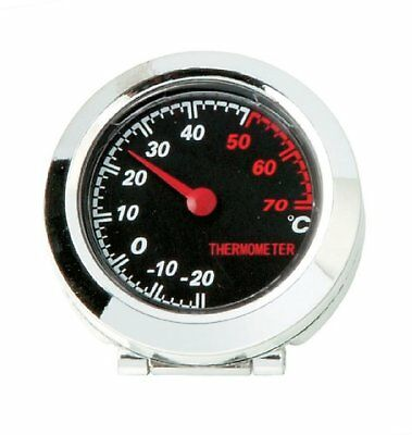 In Car Dashboard Chromed Thermometer Temperature Tilted Gauge Dial Self Adhesive • 6.95£