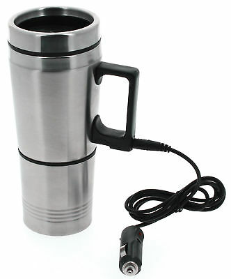Travel Mug Cup 12V Electric Heated Thermal Thermos In Car Drink Warmer Commute • 16.95£