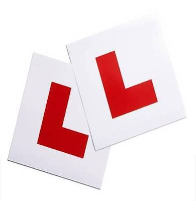 2 Piece Magnetic L Plate Car Learner Sign Stickers Vehicle Sticker B2 • 1.99£
