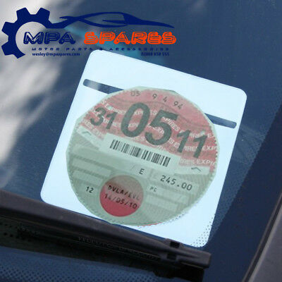 Single Plain White Car Parking Permit Tax Disc Holder License Holder   • 2.15£