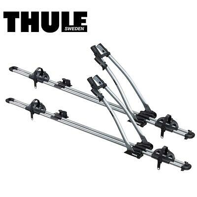 Thule Freeride 532 Roof Rack Top Mount Bike Stand Holder Carrier X2 Two 1746077 • 87.99£