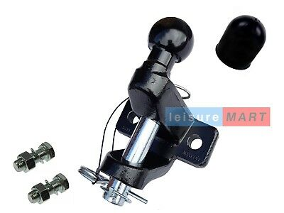 Ball And Pin Towing Coupling & Bolts 3.5 Ton Black Tow Ball Tow Hitch Tow Jaw • 33.94£