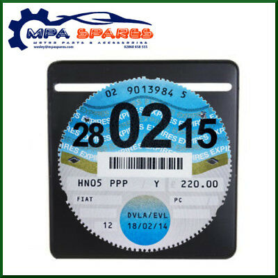Single Plain Black Car Parking Permit Tax Disc Holder License Holder   • 2.35£