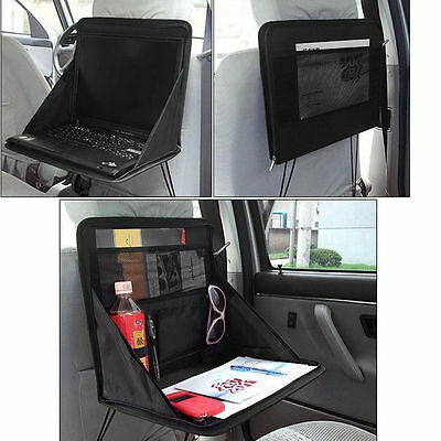 Folding Table Car Back Seat Storage Tidy Organiser DVD Laptop Holder Tray Travel • 7.30£