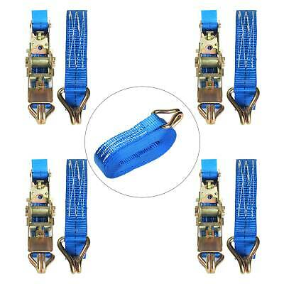 Blue 4x25mm 5 Meter Ratchet Tie Down Straps 800KG Claw Lorry Lashing Polyester • 8.79£