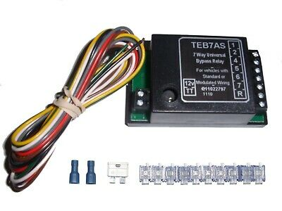 Universal 7 Way Bypass Relay Towing Electrics / Towbar For Wiring Kit • 19.16£