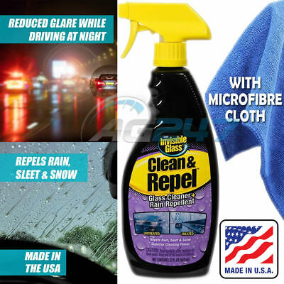 Windscreen Invisible Glass Cleaner Rain Repellent Spray Snow Sleet 651ml + Cloth • 9.95£