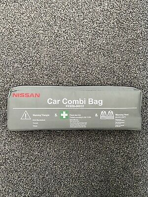 Nissan Juke Micra Note Qashqai Car Combi Bag First Aid Safety Kit With Vest 2020 • 14.99£