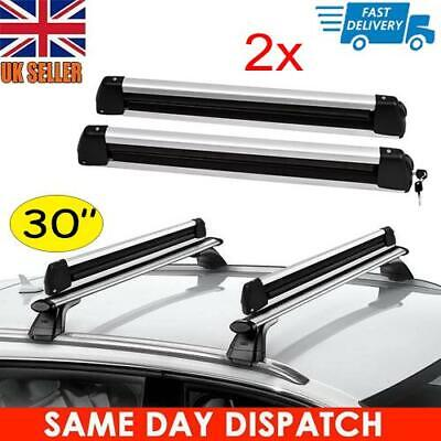 2x 30  Universal Ski Snowboard Roof Rack Carriers For 6 Pair Skis / 4 Snowboards • 49.99£